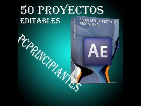 50 Proyectos Editables Para After Effects cs4, cs5 y cs6.