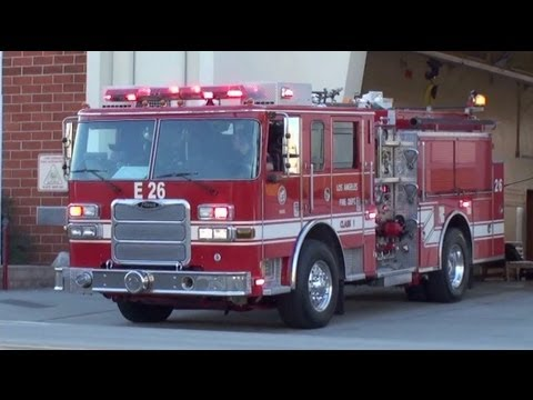LAFD Engine 26 + Ambulance 826