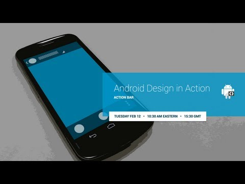 Android Design іn Action: Action Bar