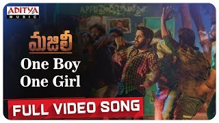 One Boy One Girl Full Video Song || MAJILI Songs || Naga Chaitanya, Samantha, Divyansha Kaushik - ADITYAMUSIC