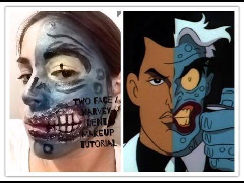 Two face makeup tutorial / dos caras maquillaje serie villanos