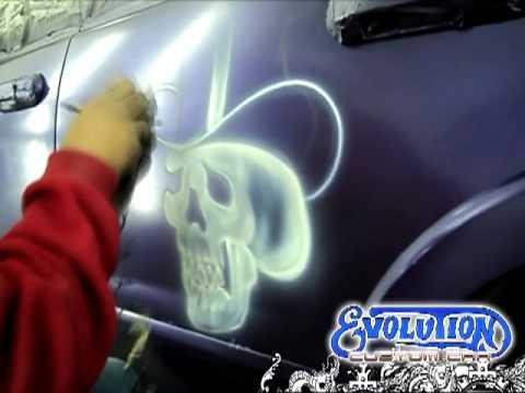 Evolution Custom Car - Aerografia y pintura en Matamoros Mexico en Ford Expedition