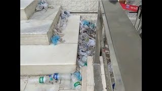 Watch: Plastic bottles, shoe covers littered at Taj Mahal's main mausoleum - TIMESOFINDIACHANNEL