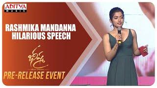 Rashmika Mandanna Hilarious Speech @ Bheeshma Pre Release Event LIVE | Nithiin | Venky Kudumula - ADITYAMUSIC