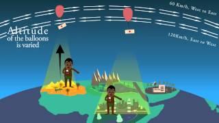 فيديو  كيف ستوصل جوجل الإنترنت للأرض عبر بالونات طائرة؟