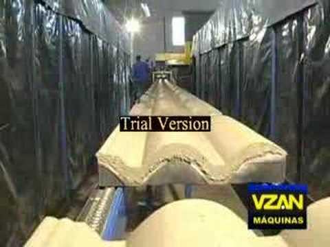 VZAN - COMPLETO - MAQUINA DE TELHA DE CIMENTO (ROOFING TILE)