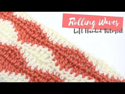 LEFT HANDED CROCHET: Rolling waves tutorial | Bella Coco