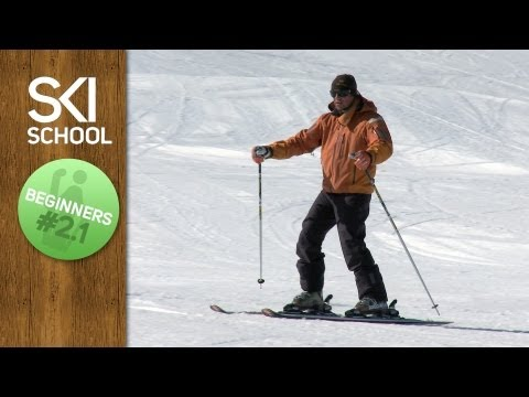 Beginner Ski Lesson #2.1 - Committing to the Downhill Ski