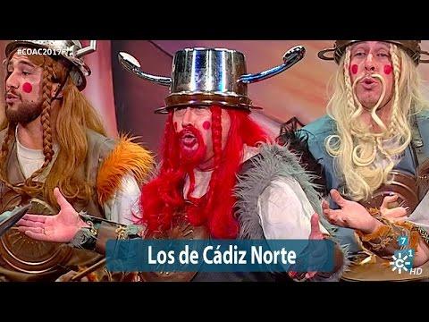 Sesión de Final, la agrupación Los de Cádiz norte actúa hoy en la modalidad de Chirigotas.