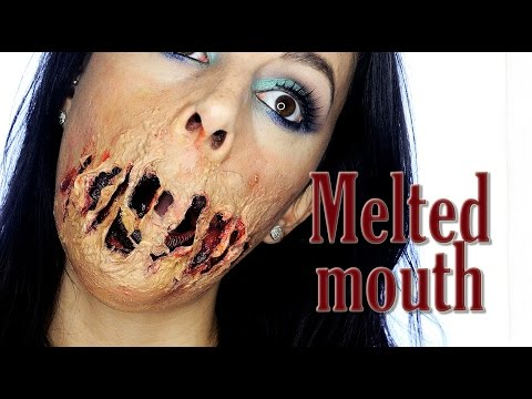 Melted mouth special effects makeup tutorial | Silvia Quiros
