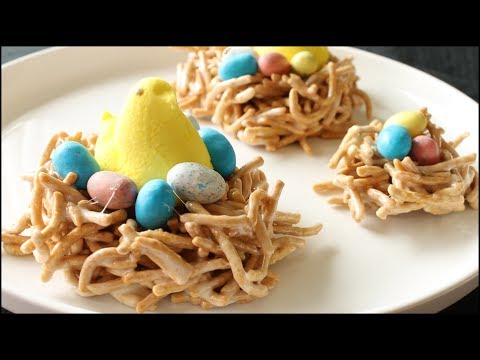 Peeps Bird Nest Treats - Marshmallow Chow Mein Easter Treat Recipe