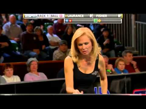 03/18/12 WPBA Masters - Semi Final rack 2-3 Kelly Fisher vs Allison Fisher Billiard HD