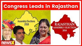 Assembly Election Results 2018: Congress touches halfway mark in Rajasthan - NEWSXLIVE