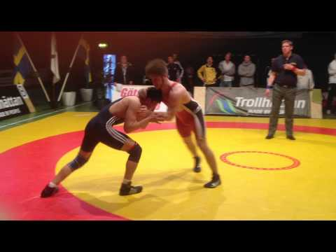 Mushtaq Ahmadi wrestling 84 kg young Swedish champion 2013 (3of 4)