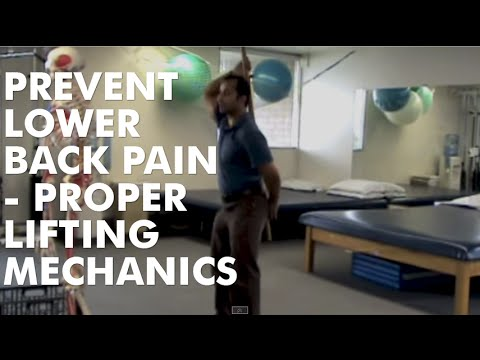 Back Injury Prevention - Proper Squatting Lifting Techniques