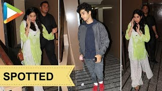 Ishaan Khattar & Janhvi Kapoor SPOTTED together at PVR Juhu - HUNGAMA
