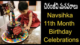 Sreeja Konidela Daughter Navishka 11th Month Birthday Adorable Moments |  Sreeja Kalyan Baby - RAJSHRITELUGU