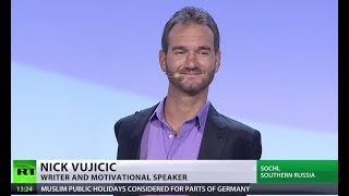 Motivating youth: Nick Vujicic speaks as World Festival of Youth & Students hits midweek - RUSSIATODAY