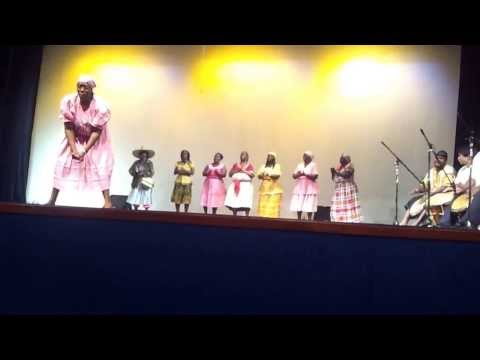 Garifuna Choir Chumba Dance at Variety Show at the Bliss