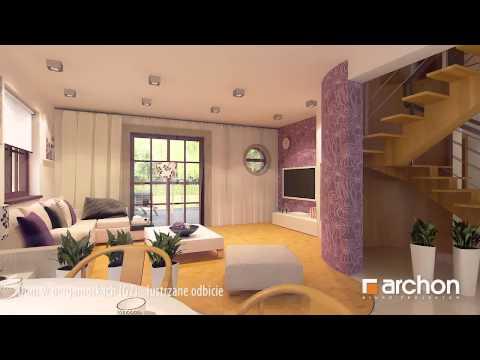 Dom w bergamotkach (G2), lustrzane odbicie - wirtualny spacer po wnętrzu. Biuro Projektów ARCHON+