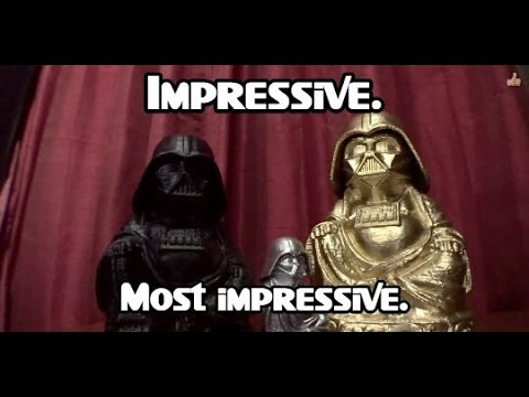 3D Printed Sculpture for Geeks - Darth Vader Buddhas