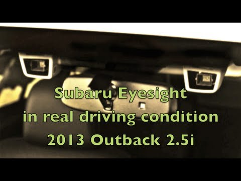 Subaru Eyesight System in Real driving Condition