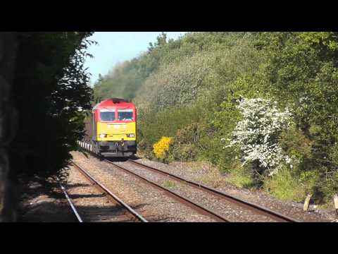 60015 through Bynea on 6B03 Trostre - Margam empty steel train 17/05/2014