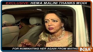 Hema Malini thanks PM Modi for having faith in her and letting her contest poll from Mathura - INDIATV