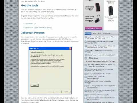 Jailbreak iPhone 3G OS 3.0