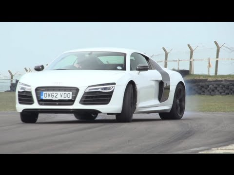 Audi R8 V10 Plus, Porsche 911 Turbo S, Litchfield GT-R. Track, Drag-Race - CHRIS HARRIS ON CARS