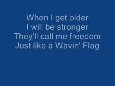 K'naan - Wavin' Flag Celebration Remix - Karaoke - Lyrics