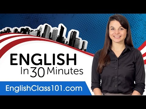 Learn English in 30 Minutes - ALL the English Basics You Need - صوت وصوره لايف