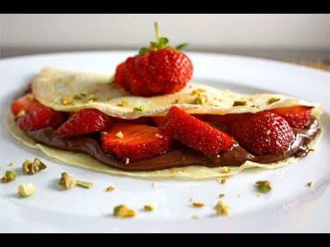 How to Make Crepes Strawberry Banana Nutella Crepe Dessert AprilAthena7 