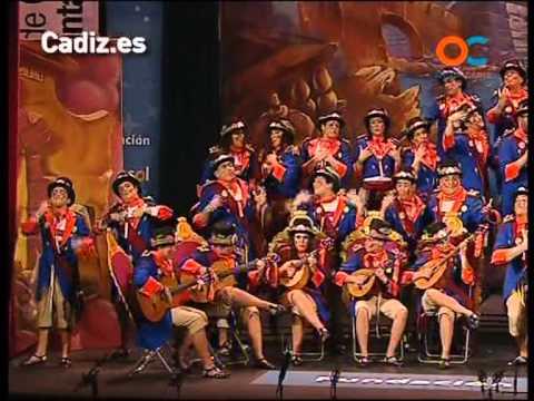 Sesión de Preliminares, la agrupación Los alcaldes de La Caleta actúa hoy en la modalidad de Coros.