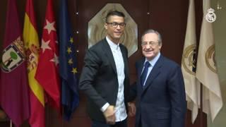 Cristiano renovó con el Real Madrid hasta 2021