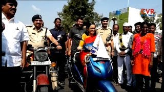 Yadadri Bhuvanagiri Collector Anita Ramachandran Conducted Election Awareness Bike Rally | CVR News - CVRNEWSOFFICIAL