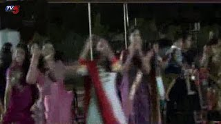 Telangana NRI's Bhatukamma Celebrations In Houston | United States : TV5 News - TV5NEWSCHANNEL