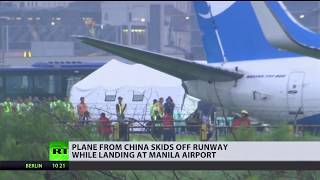Chinese Boeing 737 with 165 people on board crash-lands at Manila airport - RUSSIATODAY