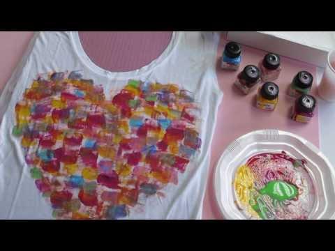 Cómo customizar una camiseta con pintura textil - Mummy Crafts