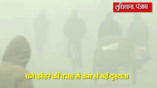 video : सर्दी का सितम : कोहरे में लिपटा Ludhiana City