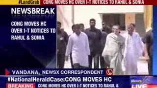 Congress moves HC over I-T notices to Rahul & Sonia Gandhi - NEWSXLIVE