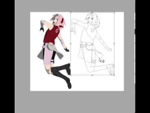 Drawing Sakura Haruno paint MS paint