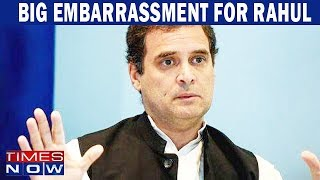 Big embarrassment for Rahul Gandhi, Congress leader snubs Congress chief - TIMESNOWONLINE