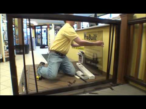 The Deck Store - ProBuilt Aluminum Railing Installation - How To