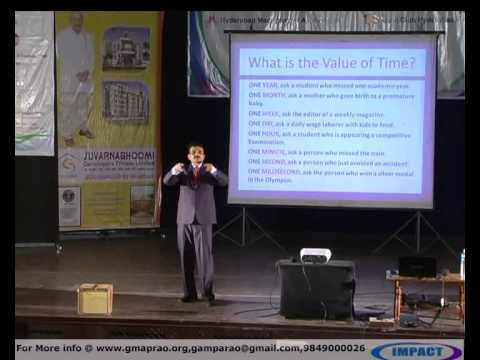 TIME MANAGEMENT by UDYA KUMAR at IMPACT 2012 HYDERABAD