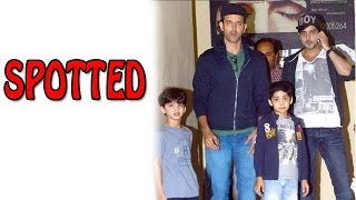Hrithik Roshan and Zayed Khan watch PK Movie together with their Kids - SPOTTED