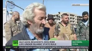 'Tortured, jailed & beat': Mayadin residents describe life under ISIS moral police rule (EXCLUSIVE) - RUSSIATODAY