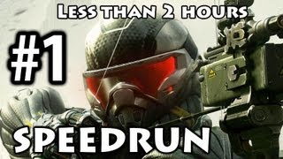 Crysis 3 - Speedrun Part 1 - Post-Human [Commentary] [Less than 2h]