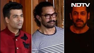 Aamir, Salman, KJO & Other Stars At Sanjay Dutt's Diwali Bash - NDTV