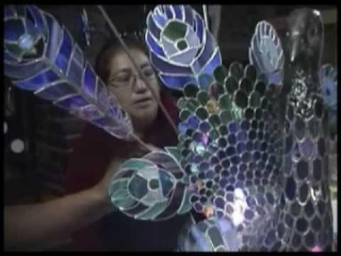 Arte en Vidrio reciclado